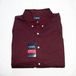 🍃 Chaps   Men's  Button Down Dress Shirt (XL)